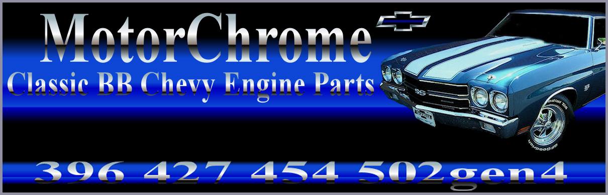 Chrome Big Block Chevy Engine Parts