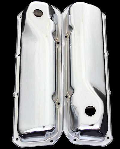 Chrome ford 351 cleveland valve covers