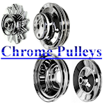 partsking chrome pulleys