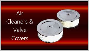 Chrome and aluminum air cleaners and chrome valve covers