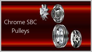 small block chevy chrome pulleys