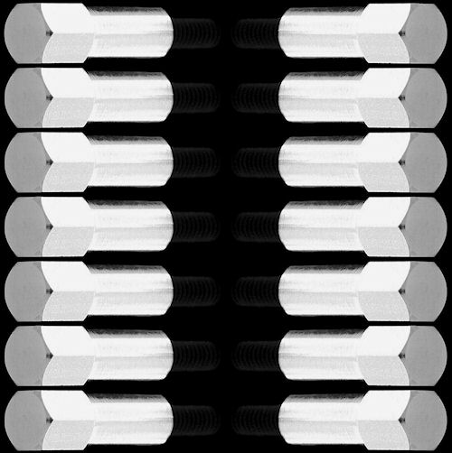 chrome ford valve cover mini bolts 260 289 302 351 w set of 14