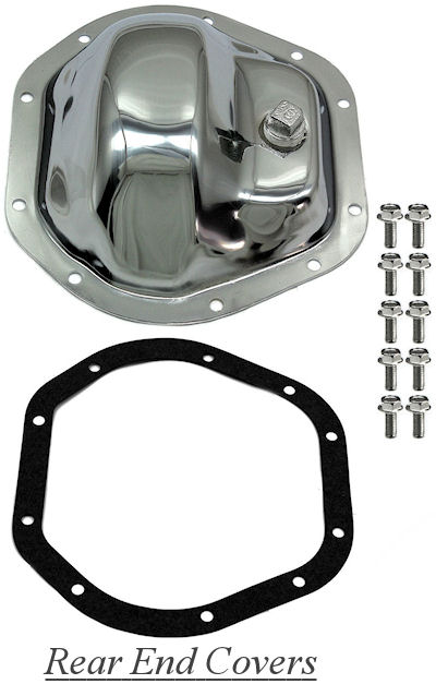 Chrome rear end differential covers