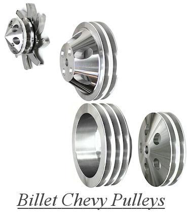 Billlet Chevy Pulleys