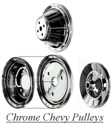 Chrome Chevy Pulleys